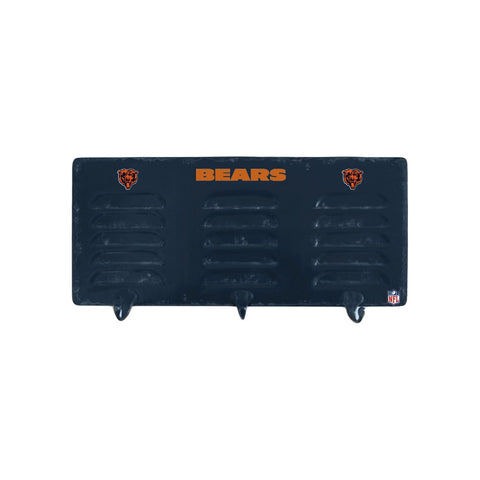 CHICAGO BEARS 3 HOOK METAL LOCKER COAT RACK