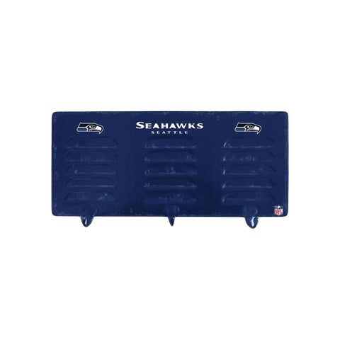 SEATTLE SEAHAWKS 3 HOOK METAL LOCKER COAT RACK
