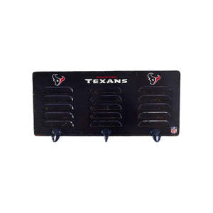 HOUSTON TEXANS 3 HOOK METAL LOCKER COAT RACK