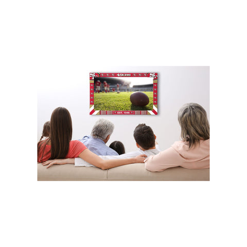 SAN FRANCISCO 49ERS BIG GAME TV FRAME