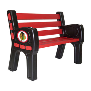 CHICAGO BLACKHAWKS PARK BENCH