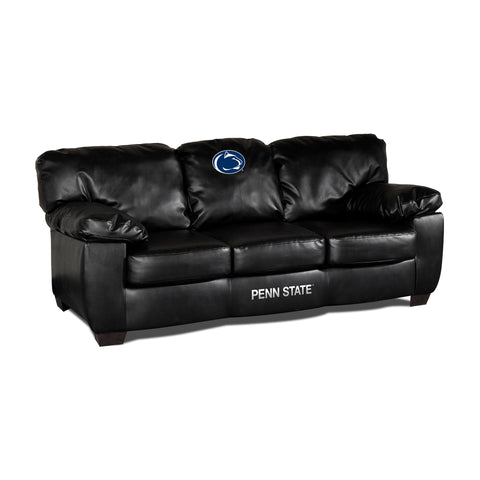PENN STATE BLK LEATHER CLASSIC SOFA
