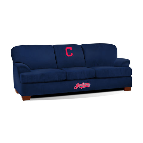 CLEVELAND INDIANS FIRST TEAM MICROFIBER SOFA