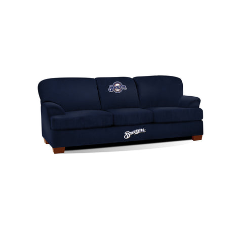 MILWAUKEE BREWERS FIRST TEAM MICROFIBER SOFA