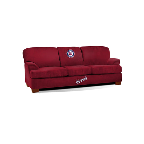 WASHINGTON NATIONALS FIRST TEAM MICROFIBER SOFA