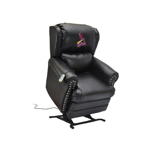 ST LOUIS CARDINALS COACH LEATHER LIFT CHAIR