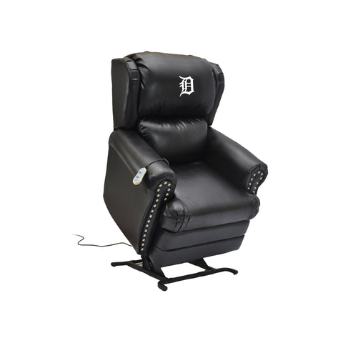 DETROIT TIGERS COACH LEATHER LIFT CHAIR