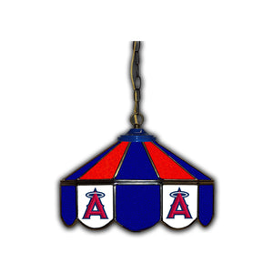 LOS ANGELES ANGELS 14in. GLASS PUB LAMP