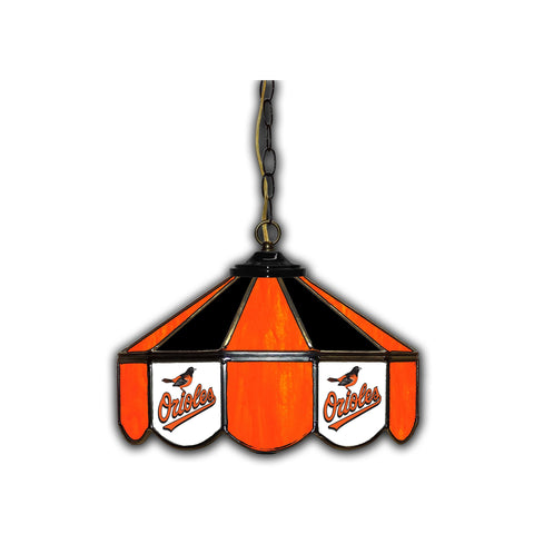 BALTIMORE ORIOLES 14in. GLASS PUB LAMP