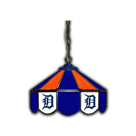 DETROIT TIGERS 14in. GLASS PUB LAMP