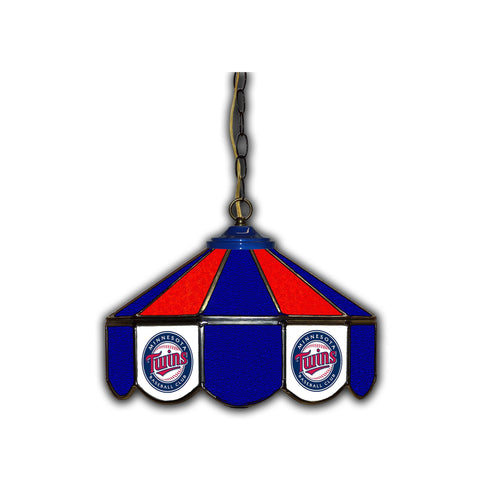 MINNESOTA TWINS 14in. GLASS PUB LAMP