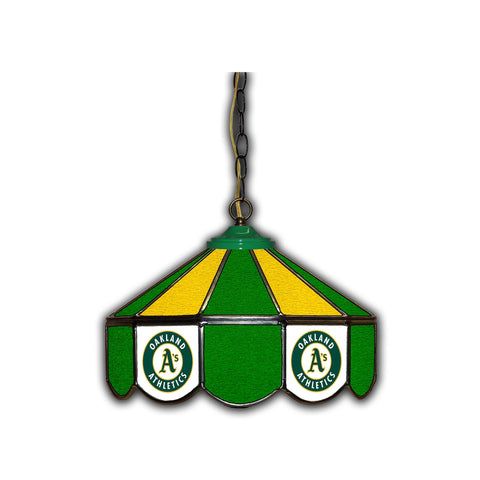 OAKLAND ATHLETICS 14in. GLASS PUB LAMP