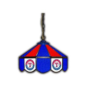 TEXAS RANGERS 14in. GLASS PUB LAMP