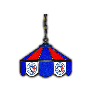 TORONTO BLUE JAYS 14in. GLASS PUB LAMP