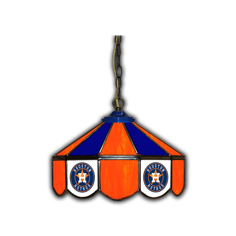 HOUSTON ASTROS 14in. GLASS PUB LAMP