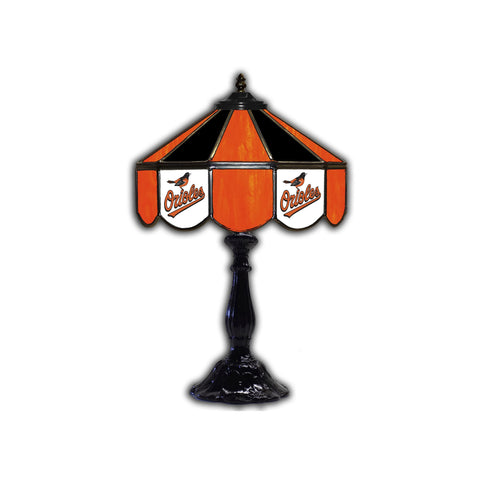 BALTIMORE ORIOLES 21in. GLASS TABLE LAMP