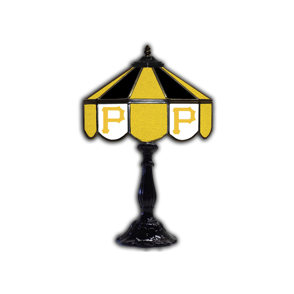 PITTSBURG PIRATES 21in. GLASS TABLE LAMP