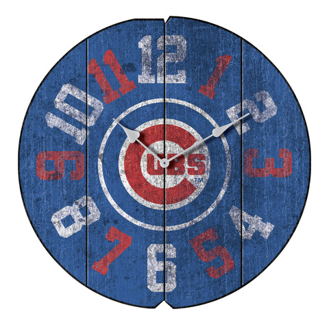 CHICAGO CUBS ROUND VINTAGE WALL CLOCK