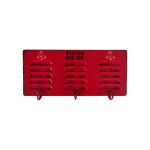 BOSTON RED SOX 3 HOOK METAL LOCKER COAT RACK