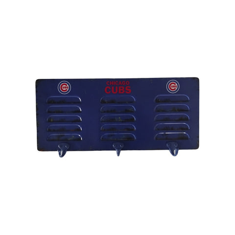 CHICAGO CUBS 3 HOOK METAL LOCKER COAT RACK