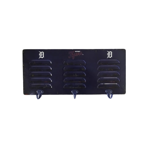 DETROIT TIGERS 3 HOOK METAL LOCKER COAT RACK