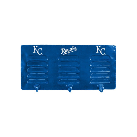 KANSAS CITY ROYALS 3 HOOK METAL LOCKER COAT RACK