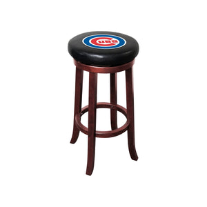 CHICAGO CUBS WOODEN BAR STOOL