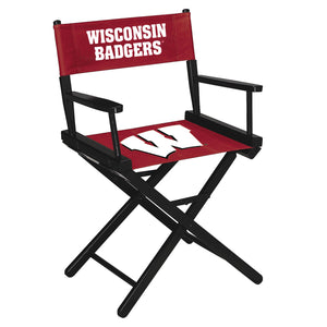 UNIVERSITY OF WISCONSIN DIRECTORS CHAIR-TABLE HEIGHT