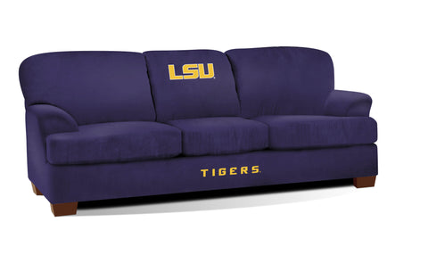 LOUISIANA STATE UNIVERSITY FIRST TEAM MICROFIBER SOFA