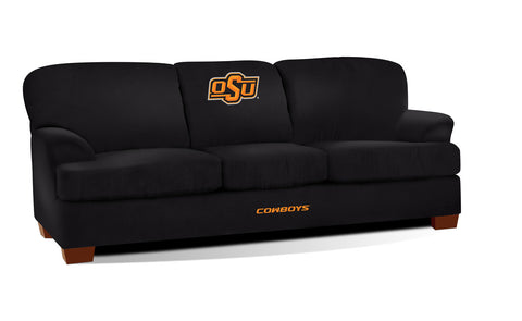 OKLAHOMA STATE UNIVERSITY FIRST TEAM MICROFIBER SOFA