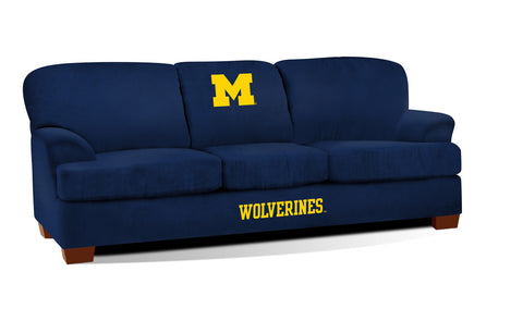 UNIVERSITY OF MICHIGAN FIRST TEAM MICROFIBER SOFA