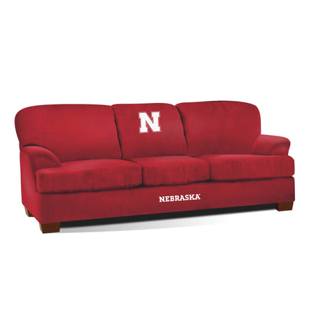 UNIVERSITY OF NEBRASKA FIRST TEAM MICROFIBER SOFA