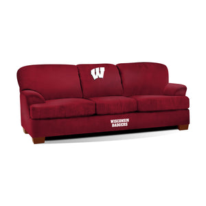 UNIVERSITY OF WISCONSIN FIRST TEAM MICROFIBER SOFA