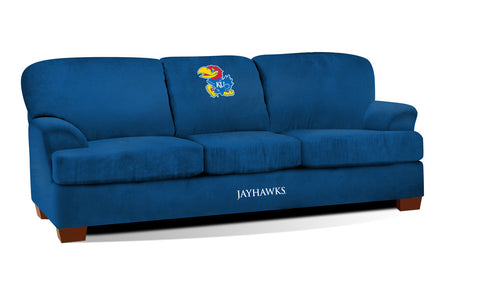 UNIVERSITY OF KANSAS FIRST TEAM MICROFIBER SOFA