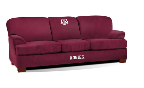 TEXAS A & M FIRST TEAM MICROFIBER SOFA