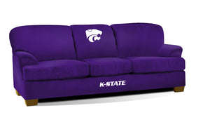 KANSAS STATE UNIVERSITY FIRST TEAM MICROFIBER SOFA