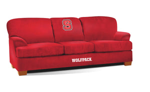 NORTH CAROLINA STATE UNIVERSITY FIRST TEAM MICROFIBER SOFA
