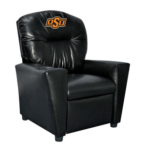 OKLAHOMA STATE UNIVERSITY FAUX LEATHER KIDS RECLINER