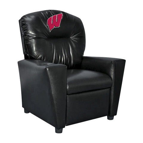 UNIVERSITY OF WISCONSIN FAUX LEATHER KIDS RECLINER