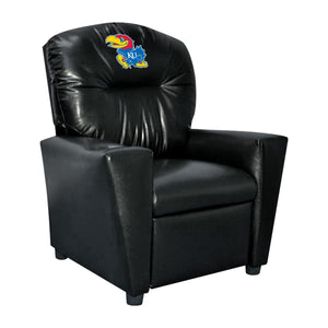 UNIVERSITY OF KANSAS FAUX LEATHER KIDS RECLINER