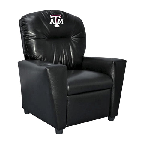 TEXAS A&M FAUX LEATHER KIDS RECLINER