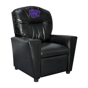 KANSAS STATE UNIVERSITY FAUX LEATHER KIDS RECLINER
