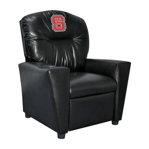 NORTH CAROLINA STATE UNIVERSITY FAUX LEATHER KIDS RECLINER