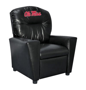 UNIVERSITY OF MISSISSIPPI FAUX LEATHER KIDS RECLINER