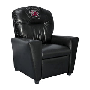 UNIVERSITY OF S CAROLINA FAUX LEATHER KIDS RECLINER