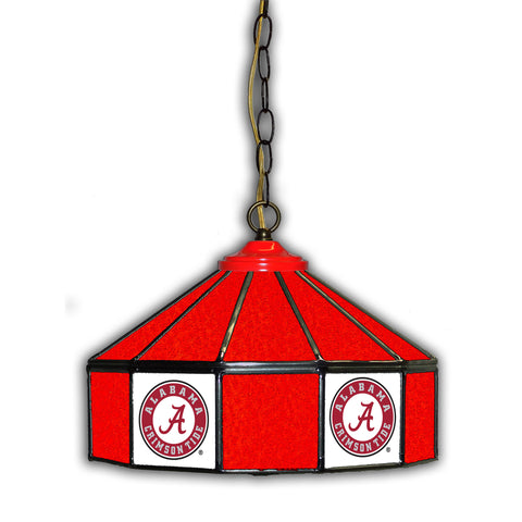 UNIVERSITY OF ALABAMA 14in. GLASS PUB LAMP