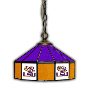 LOUISIANA STATE UNIVERSITY 14in. GLASS PUB LAMP