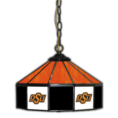 OKLAHOMA STATE 14in. GLASS PUB LAMP