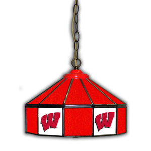 UNIVERSITY OF WISCONSIN 14in. GLASS PUB LAMP