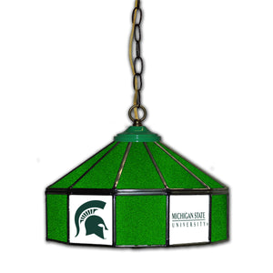 MICHGAN STATE 14in. GLASS PUB LAMP